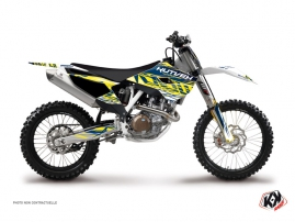 Husqvarna FC 250 Dirt Bike Eraser Graphic Kit Yellow Blue