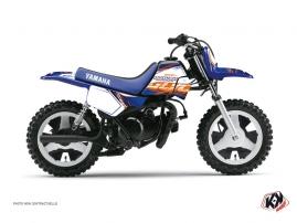 Graphic Kit Dirt Bike Eraser Yamaha PW 50 Blue Orange