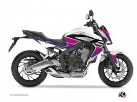 Graphic Kit Street Bike Essential Honda CB 650 F Pink White