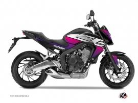 Graphic Kit Street Bike Essential Honda CB 650 F Pink Black
