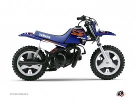 Graphic Kit Dirt Bike Flow Yamaha PW 50 Orange
