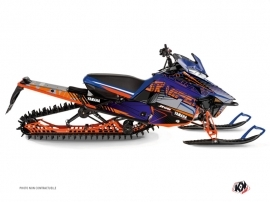 Yamaha SR Viper Snowmobile Flow Graphic Kit Orange