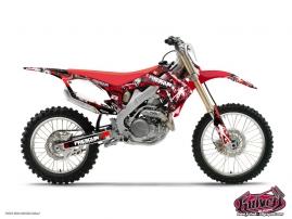 Honda 125 CR Dirt Bike FREEGUN Graphic kit