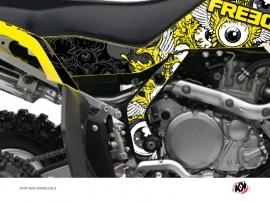 Graphic Kit Frame protection ATV Freegun Suzuki 450 LTR Yellow