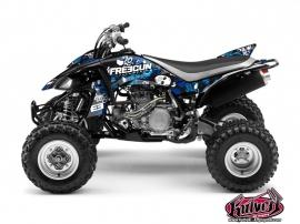Yamaha 450 YFZ ATV FREEGUN Graphic kit Blue