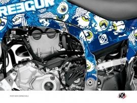 Graphic Kit Frame protection ATV Freegun Yamaha 450 YFZ-R 2014-2016 Blue
