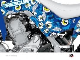 Graphic Kit Frame protection ATV Freegun Yamaha 700 Raptor 2013-2016 Blue