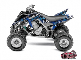 Yamaha 700 Raptor ATV Freegun Graphic Kit Blue