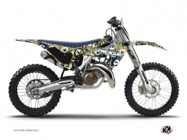 Graphic Kit Dirt Bike Freegun Eyed Husqvarna TC 125 Blue Yellow