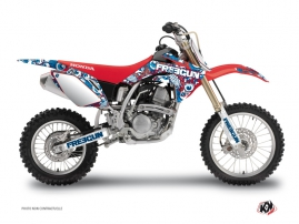 Graphic Kit Dirt Bike Freegun Eyed Honda 125 CR Red
