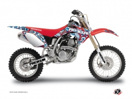 Graphic Kit Dirt Bike Freegun Eyed Honda 150 CRF Red Blue