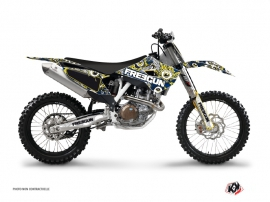 Graphic Kit Dirt Bike Freegun Eyed Husqvarna FC 250 Blue Yellow