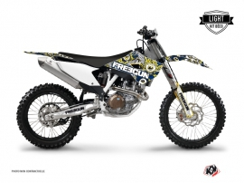 Graphic Kit Dirt Bike Freegun Eyed Husqvarna TC 250 Blue Yellow LIGHT