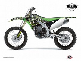 Kawasaki 250 KXF Dirt Bike Freegun Graphic Kit Green LIGHT