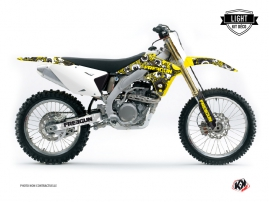 Suzuki 250 RMZ Dirt Bike FREEGUN Graphic kit Yellow LIGHT