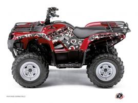 Graphic Kit ATV Freegun Eyed Yamaha 350 Grizzly Red