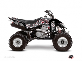 Graphic Kit ATV Freegun Eyed Suzuki 400 LTZ IE Grey Red