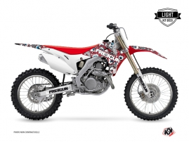 Graphic Kit Dirt Bike Freegun Eyed Honda 450 CRF Red Blue LIGHT