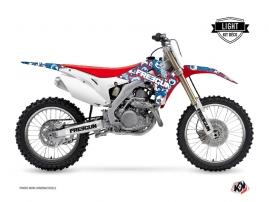 Graphic Kit Dirt Bike Freegun Eyed Honda 450 CRF Red LIGHT