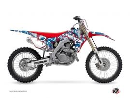 Graphic Kit Dirt Bike Freegun Eyed Honda 450 CRF Red