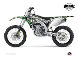 Kawasaki 450 KXF Dirt Bike FREEGUN Graphic kit Green LIGHT