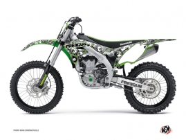 Kawasaki 450 KXF Dirt Bike FREEGUN Graphic kit Green