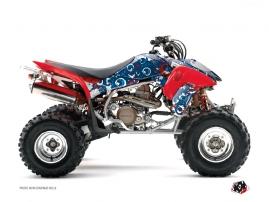 Graphic Kit ATV Freegun Eyed Honda 450 TRX Red