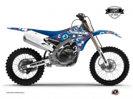 Graphic Kit Dirt Bike Freegun Eyed Yamaha 450 YZF Red LIGHT
