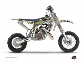 Graphic Kit Dirt Bike Freegun Eyed Husqvarna TC 50 Blue Yellow
