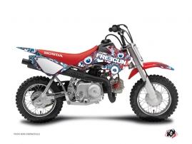 Graphic Kit Dirt Bike Freegun Eyed Honda 50 CRF Red Blue