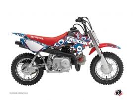 Graphic Kit Dirt Bike Freegun Eyed Honda 50 CRF Red