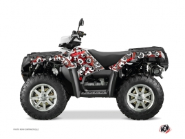 Polaris 550-850-1000 Sportsman Forest ATV FREEGUN Graphic kit Red Grey