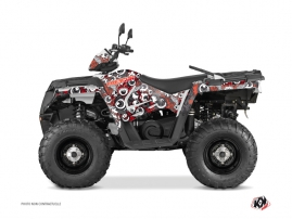 Polaris 570 Sportsman Touring ATV FREEGUN Graphic kit Red Grey