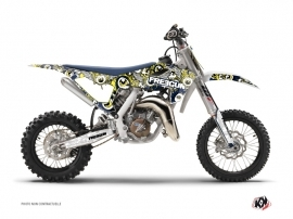 Graphic Kit Dirt Bike Freegun Eyed Husqvarna TC 65 Blue Yellow