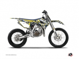 Graphic Kit Dirt Bike Freegun Eyed Husqvarna TC 85 Blue Yellow