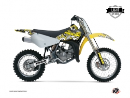 Suzuki 85 RM Dirt Bike FREEGUN Graphic kit Yellow LIGHT