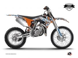 Graphic Kit Dirt Bike Freegun Eyed KTM 85 SX Orange LIGHT