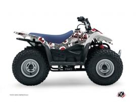 Suzuki 90 LTZ ATV FREEGUN Graphic kit Grey Red