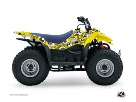Suzuki 90 LTZ ATV FREEGUN Graphic kit Yellow
