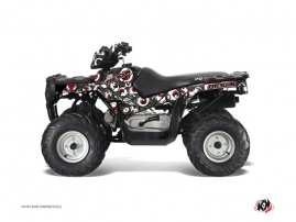 Polaris 90 Sportsman ATV FREEGUN Graphic kit Grey Red