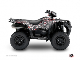 Graphic Kit ATV Freegun Eyed Suzuki King Quad 400 Grey Red