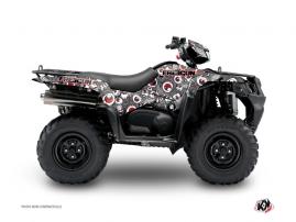 Suzuki King Quad 400 ATV FREEGUN Graphic kit Grey Red