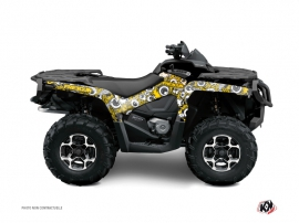 Graphic Kit ATV Freegun Eyed Can Am Outlander 1000 Yellow