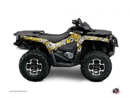 Graphic Kit ATV Freegun Eyed Can Am Outlander 400 MAX Yellow