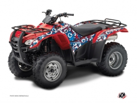 Graphic Kit ATV Freegun Eyed Honda Rancher 420 Red