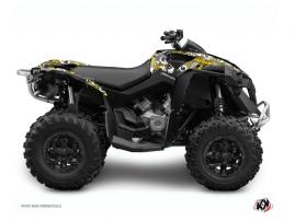 Can Am Renegade ATV FREEGUN Graphic kit Yellow