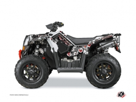 Polaris Scrambler 850-1000 XP ATV FREEGUN Graphic kit Grey Red