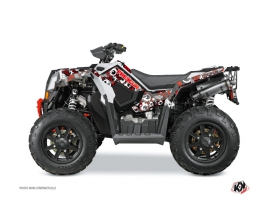 Polaris Scrambler 850-1000 XP ATV FREEGUN Graphic kit Red Grey