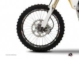 Graphic Kit Wheel decals Dirt Bike Freegun Grey Orange