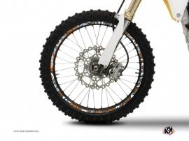 Graphic Kit Wheel decals Dirt Bike Freegun Orange